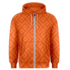 Orange Maze Men s Zipper Hoodie