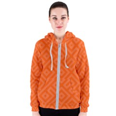 Orange Maze Women s Zipper Hoodie