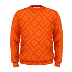 Orange Maze Men s Sweatshirt
