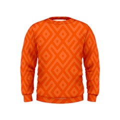 Orange Maze Kids  Sweatshirt