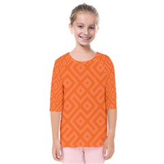 Orange Maze Kids  Quarter Sleeve Raglan Tee