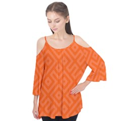 Orange Maze Flutter Tees