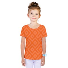 Orange Maze Kids  One Piece Tee