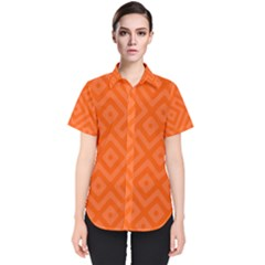 Orange Maze Women s Short Sleeve Shirt