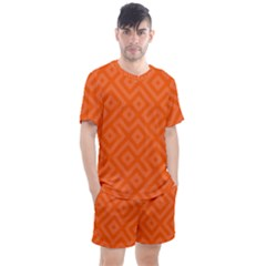 Orange Maze Men s Mesh Tee and Shorts Set