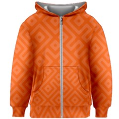 Orange Maze Kids  Zipper Hoodie Without Drawstring
