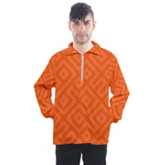 Orange Maze Men s Half Zip Pullover
