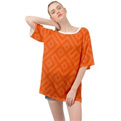 Orange Maze Oversized Chiffon Top