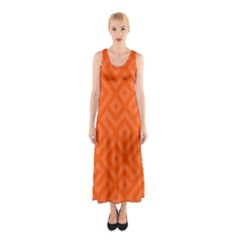 Orange Maze Sleeveless Maxi Dress