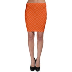 Orange Maze Bodycon Skirt