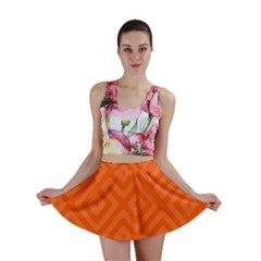 Orange Maze Mini Skirt