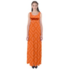 Orange Maze Empire Waist Maxi Dress by retrotoomoderndesigns