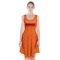 Orange Maze Racerback Midi Dress