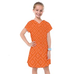Orange Maze Kids  Drop Waist Dress