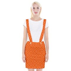 Orange Maze Braces Suspender Skirt