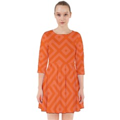 Orange Maze Smock Dress