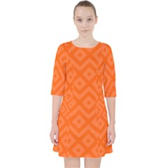 Orange Maze Pocket Dress