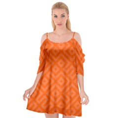 Orange Maze Cutout Spaghetti Strap Chiffon Dress by retrotoomoderndesigns