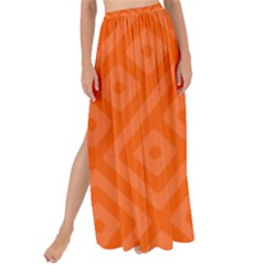 Orange Maze Maxi Chiffon Tie-Up Sarong