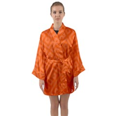 Orange Maze Long Sleeve Satin Kimono