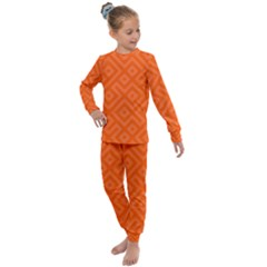 Orange Maze Kids  Long Sleeve Set