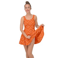 Orange Maze Inside Out Casual Dress