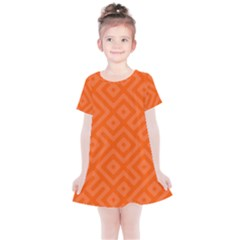 Orange Maze Kids  Simple Cotton Dress