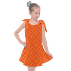 Orange Maze Kids  Tie Up Tunic Dress