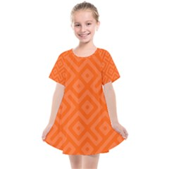 Orange Maze Kids  Smock Dress