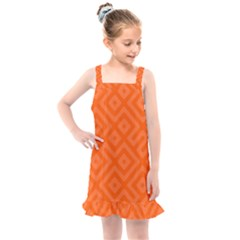 Orange Maze Kids  Overall Dress