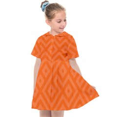 Orange Maze Kids  Sailor Dress