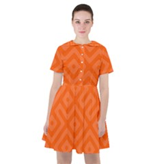 Orange Maze Sailor Dress