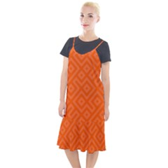 Orange Maze Camis Fishtail Dress