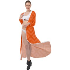 Orange Maze Maxi Chiffon Beach Wrap