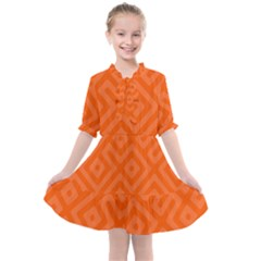 Orange Maze Kids  All Frills Chiffon Dress by retrotoomoderndesigns