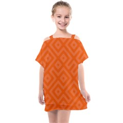 Orange Maze Kids  One Piece Chiffon Dress