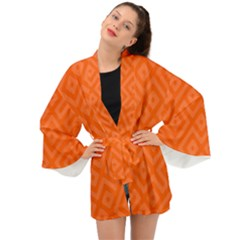 Orange Maze Long Sleeve Kimono