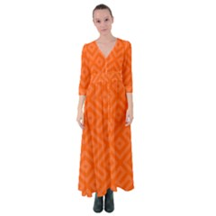 Orange Maze Button Up Maxi Dress