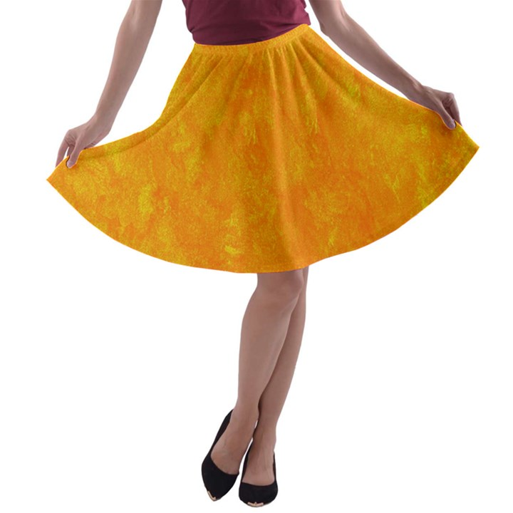 Sunshine Orange A-line Skater Skirt