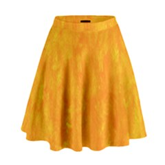 Sunshine Orange High Waist Skirt