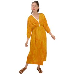 Sunshine Orange Grecian Style  Maxi Dress