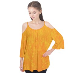 Sunshine Orange Flutter Tees