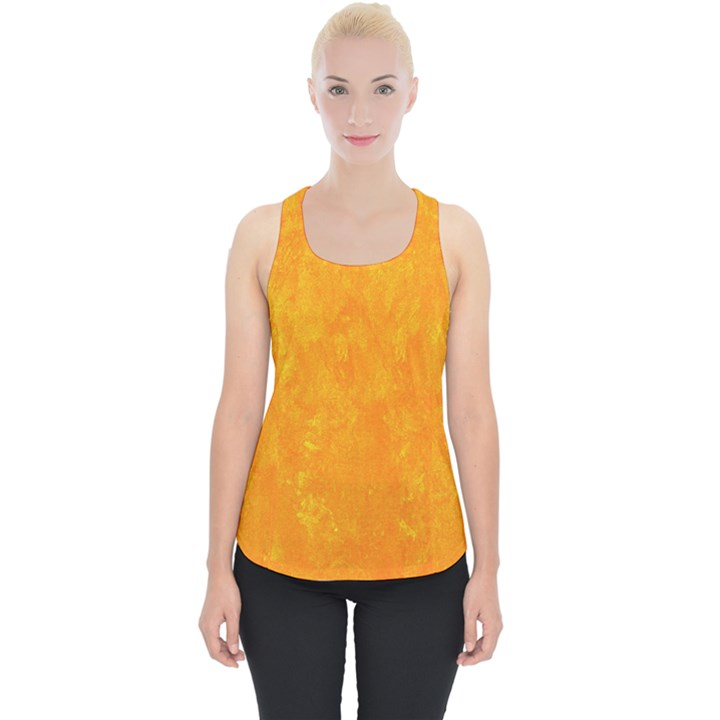 Sunshine Orange Piece Up Tank Top