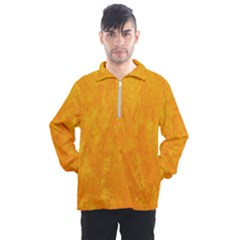 Sunshine Orange Men s Half Zip Pullover