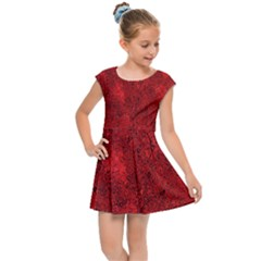 Bright Red Dream Kids  Cap Sleeve Dress by retrotoomoderndesigns