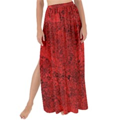 Bright Red Dream Maxi Chiffon Tie-up Sarong by retrotoomoderndesigns