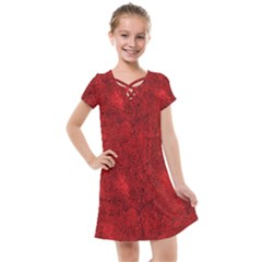 Bright Red Dream Kids  Cross Web Dress by retrotoomoderndesigns
