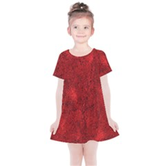 Bright Red Dream Kids  Simple Cotton Dress by retrotoomoderndesigns
