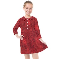 Bright Red Dream Kids  Quarter Sleeve Shirt Dress by retrotoomoderndesigns