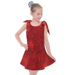 Bright Red Dream Kids  Tie Up Tunic Dress by retrotoomoderndesigns